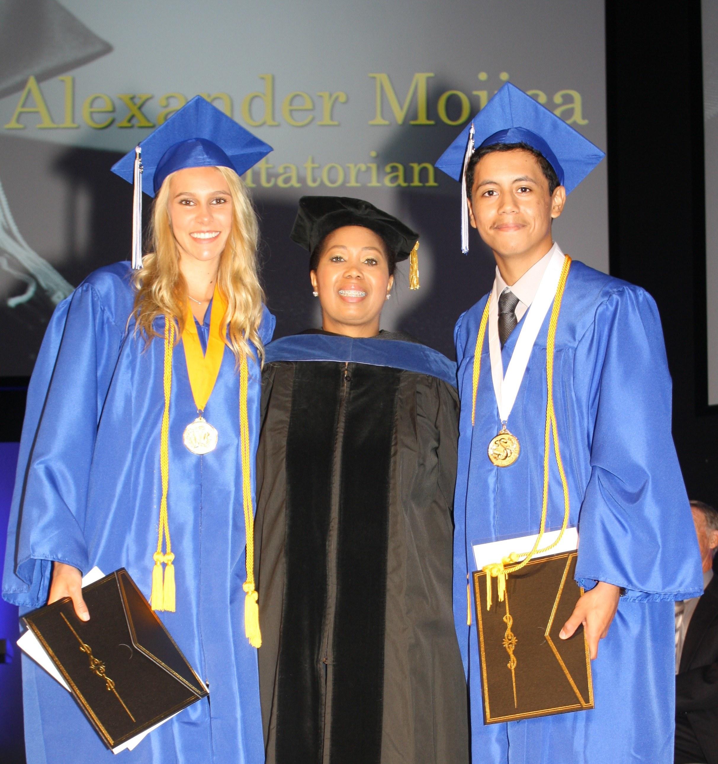 Valedictorian and Salutatorian during the 2016 Graduation at Texas Success Academy
